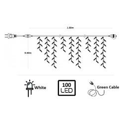 100 LED ΛΑΜΠΑΚΙΑ ΒΡΟΧΗ ΕΠΕΚΤΕΙΝΟΜΕΝΟ ΠΡΑΣΙΝΟ ΚΑΛΩΔΙΟ ΨΥΧΡΟ ΛΕΥΚΟ ΦΩΣ ΕΞΩΤ. ΧΩΡΟΥ (XLALED100IGW)