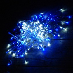 100 LED ΛΑΜΠΑΚΙΑ ΕΠΕΚΤΕΙΝΟΜΕΝΟ ΔΙΑΦΑΝΟ ΚΑΛΩΔΙΟ ΜΠΛΕ ΦΩΣ ΕΞΩΤ. ΧΩΡΟΥ (XLALED100W-CB/31V)