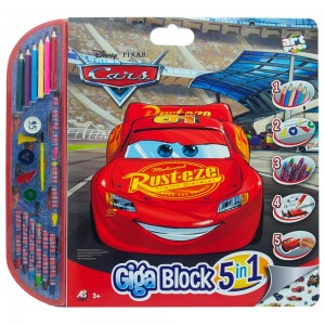 ART GRECO - ΣΕΤ ΖΩΓΡΑΦΙΚΗΣ GIGA BLOCK 5 ΣΕ 1 DISNEY CARS (1023-62717)
