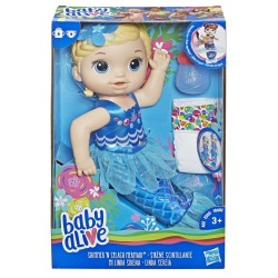 BABY ALIVE SHIMMER N SPLASH MERMAID BLONDE