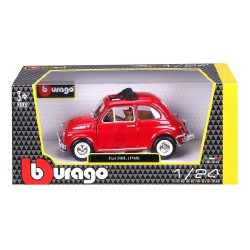 BBURAGO 1:24 FIAT 500 L RED 1968 (18-22099)