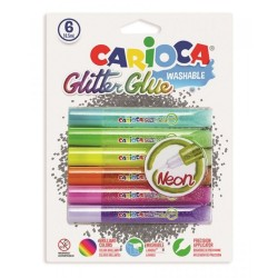 CARIOCA ΚΟΛΛΑ GLITTER FLUO 6X10.5 ML. (42111)