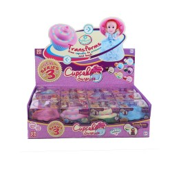 CUP CAKE SURPSISE PRINCESS DOLL 3 ASST