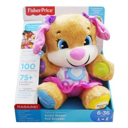 FISHER PRICE - LAUGH & LEARN ΕΚΠΑΙΔΕΥΤΙΚΟ ΣΚΥΛΑΚΙ SMART STAGES - ΡΟΖ (FPP82)