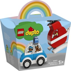 LEGO DUPLO - FIRE HELICOPTER & POLICE CAR (10957)
