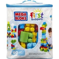 MEGA BLOKS - FIRST BUILDERS: BIG BUILDING BAG 60ΤΜΧ (DCH55)