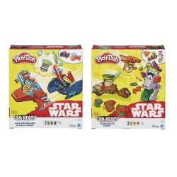 PLAY-DOH - DISNEY STAR WARS CAN HEADS ΟΧΗΜΑ 2 ΣΧΕΔΙΑ (B0001)
