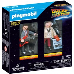 PLAYMOBIL BACK TO THE FUTURE ΜΑΡΤΙ ΜΑΚ ΦΛΑΙ ΚΑΙ ΚΑΘΗΓΗΤΗΣ ΕΜΕΤ ΜΠΡΑΟΥΝ (70459)