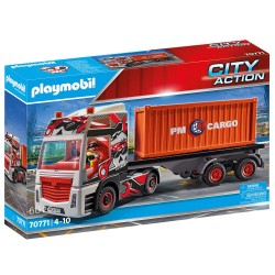 PLAYMOBIL CITY ACTION ΦΟΡΤΗΓΟ ΜΕΤΑΦΟΡΑΣ CONTAINER (70771)
