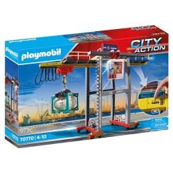 PLAYMOBIL CITY ACTION ΓΕΡΑΝΟΓΕΦΥΡΑ ΦΟΡΤΟΕΚΦΟΡΤΩΣΗΣ CONTAINER (70770)