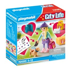 PLAYMOBIL CITY LIFE FASHION GIRL ΜΕ ΣΚΥΛΑΚΙ (70595)