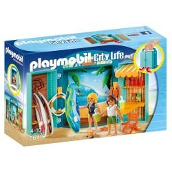 PLAYMOBIL CITY LIFE PLAY BOX 'SURF SHOP' (5641)