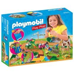 PLAYMOBIL PLAY MAP ΕΠΙΦΑΝΕΙΑ ΠΑΙΧΝΙΔΙΟΥ 'ΒΟΛΤΑ ΜΕ ΠΟΝΥ' (9331)
