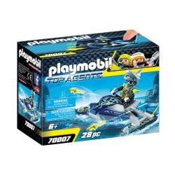 PLAYMOBIL TOP AGENTS AQUA SCOOTER ΤΗΣ SHARK TEAM (70007)