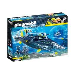 PLAYMOBIL TOP AGENTS ΣΚΑΦΟΣ ΥΠΟΒΡΥΧΙΩΝ ΚΑΤΑΣΤΡΟΦΩΝ ΤΗΣ SHARK TEAM (70005)