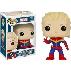 POP MARVEL: CAPTAIN MARVEL UNMASKED #148 BOBBLE-HEAD VINYL FIGURE