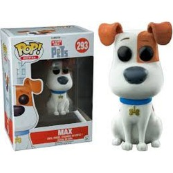POP MOVIES: THE SECRET LIFE OF PETS - MAX FLOCKED EXCLUSIVE #293 VINYL FIGURE