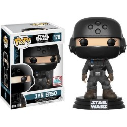 POP STAR WARS: ROGUE ONE - JYN DISGUISE WITH HELMET #178 NYCC 2017 EXCLUSIVE VINYL BOBBLE-HEAD FIGU